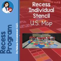 US Map Stencil 5