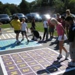 Teaching playground markings.