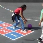 hopscotch on playground