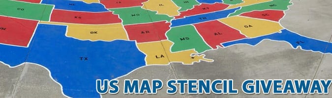 us map stencil giveaway