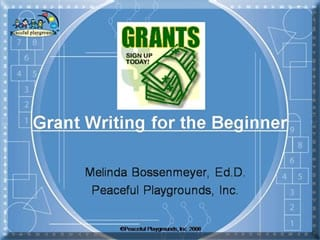 on demand webinar Grant Writing for Beginners