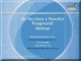on demand webinar How to Have a Peaceful Playground