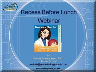 on demand webinar Recess Before Lunch
