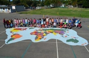 School Playground Stencils - World Map