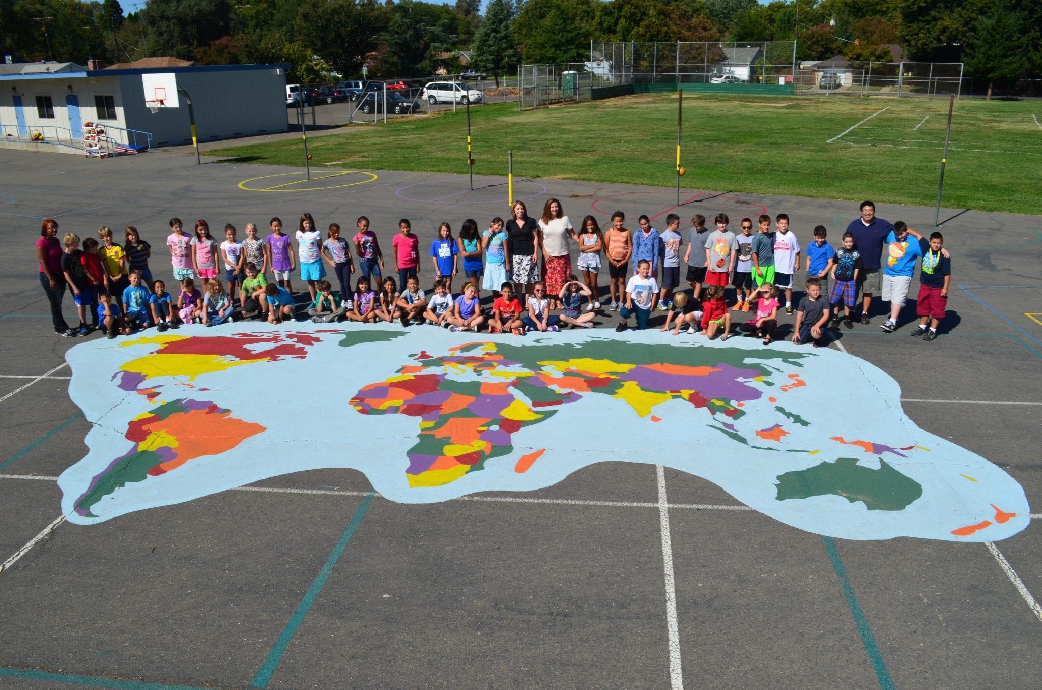 Large World Map Stencil World Map Playground Stencil